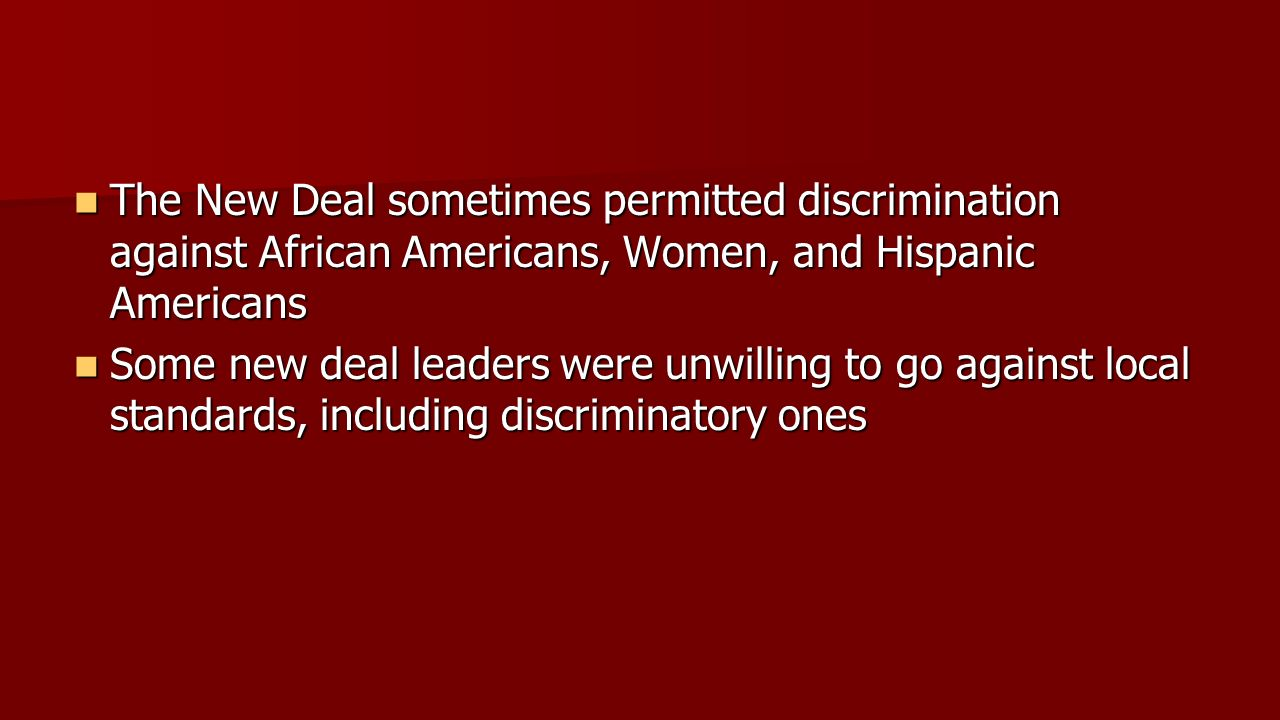 discrimination of the black americans