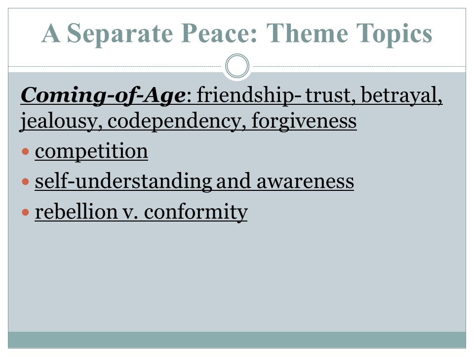 a separate peace theme