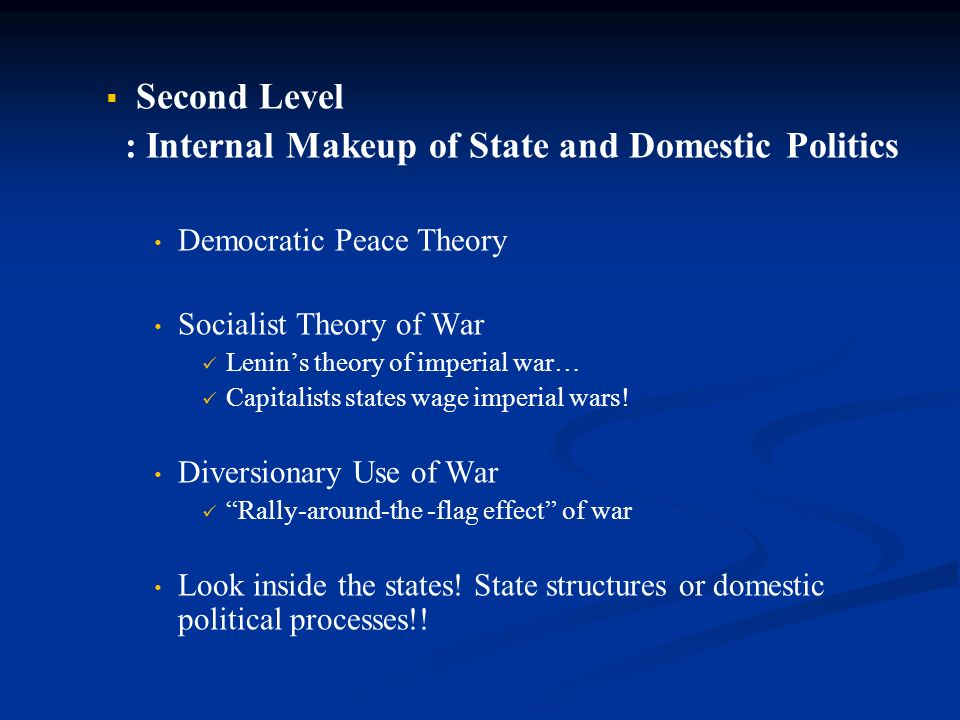 a overview of the diversionary theory of war In this dissertation, i address some limitations of the literature on the diversionary theory of war through some significant revisions my revisions are intended to extend the scope and expand the content of the literature in order to transform the theory from a theory of war to a foreign policy theory.
