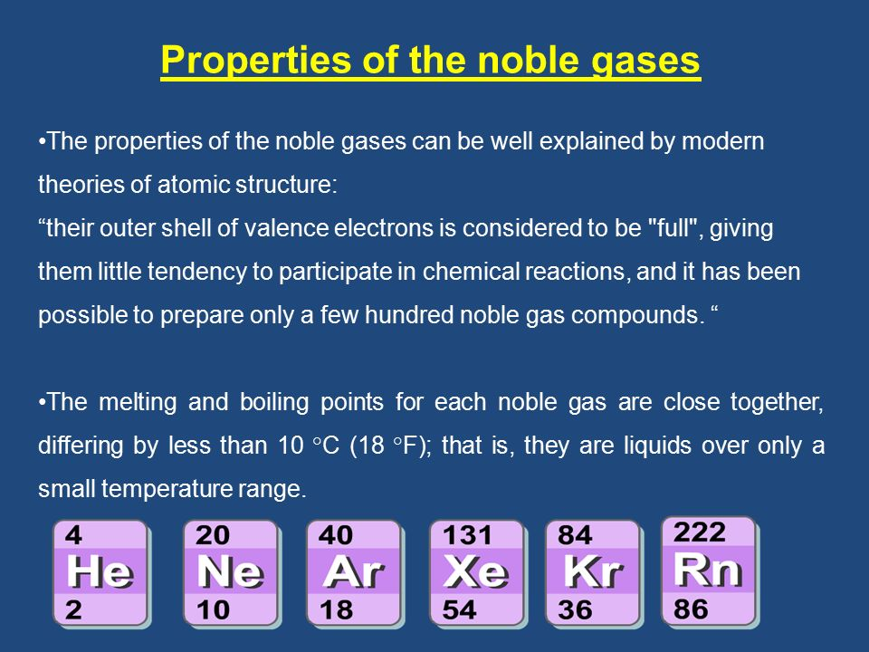 a description of the noble gases Noble gases project no description by derek savage noble gases things to know background info the name noble gas comes from the german noun edelgas.