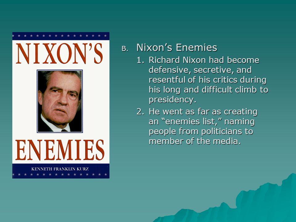 Image result for john dean before the senate watergate committee on nixon's enemy list