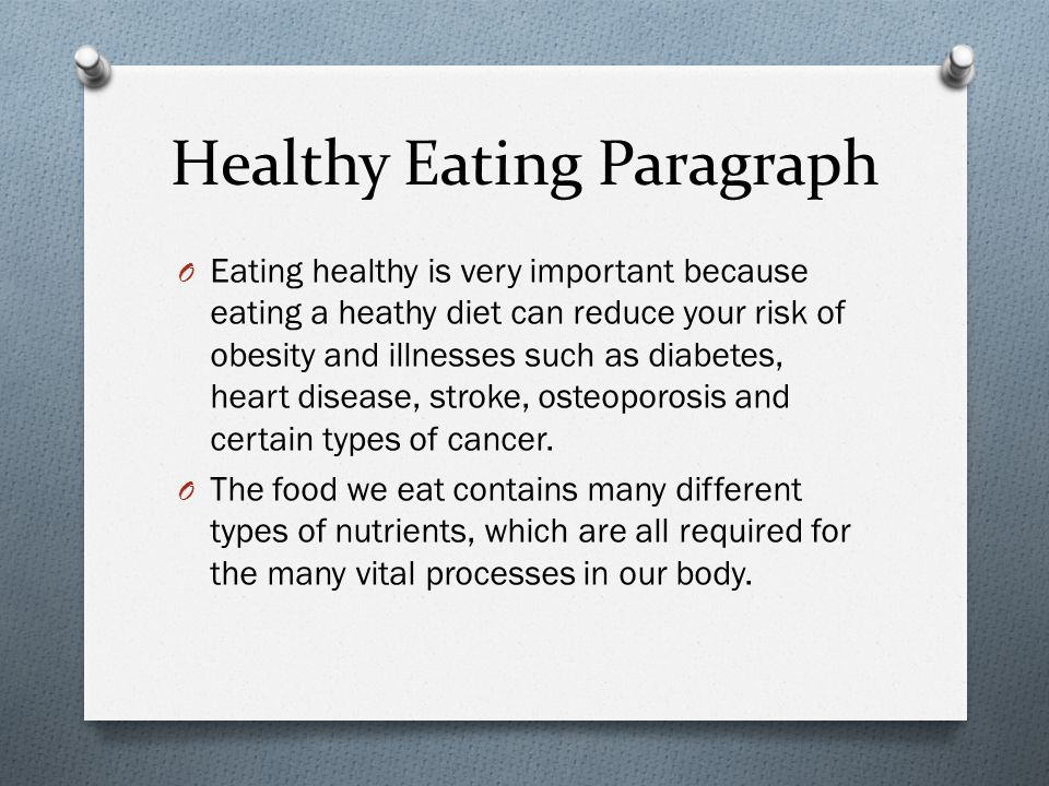 Essay About Healthy Eating