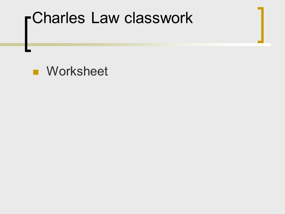 Charles law worksheet answers worked out