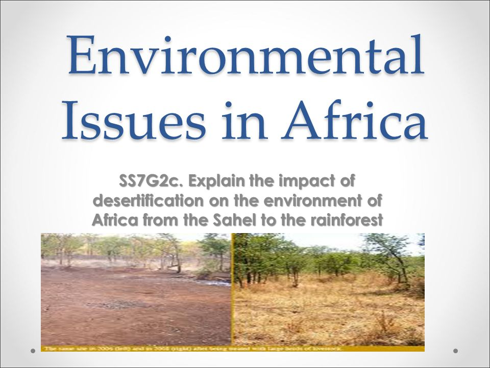 Environmental Issues in Africa SS7G2c.