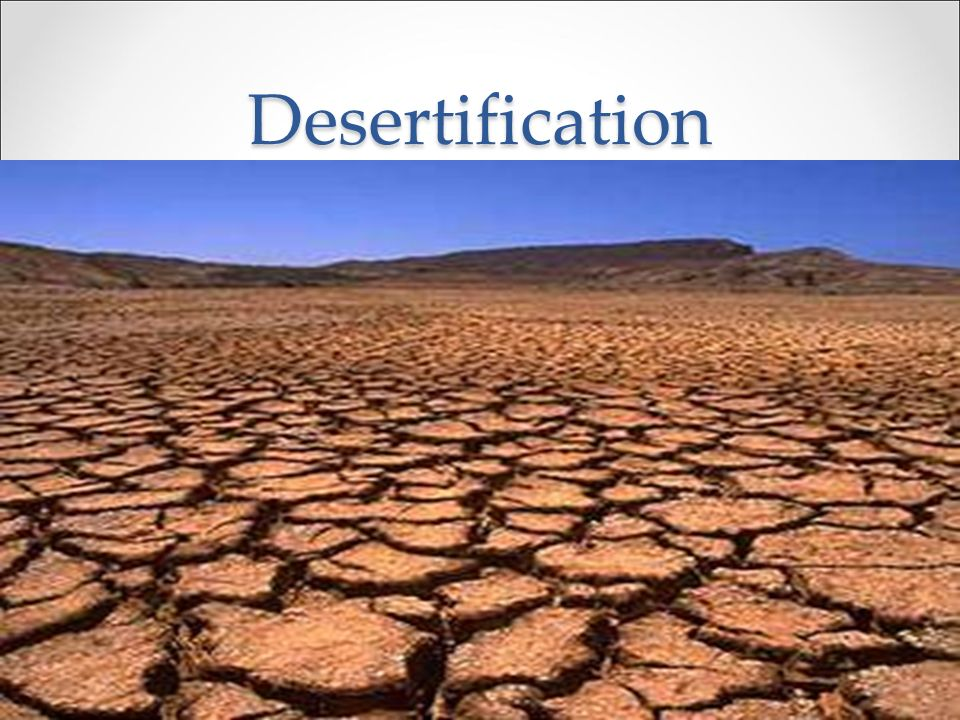 Desertification 3. Examples a. Sahel a.