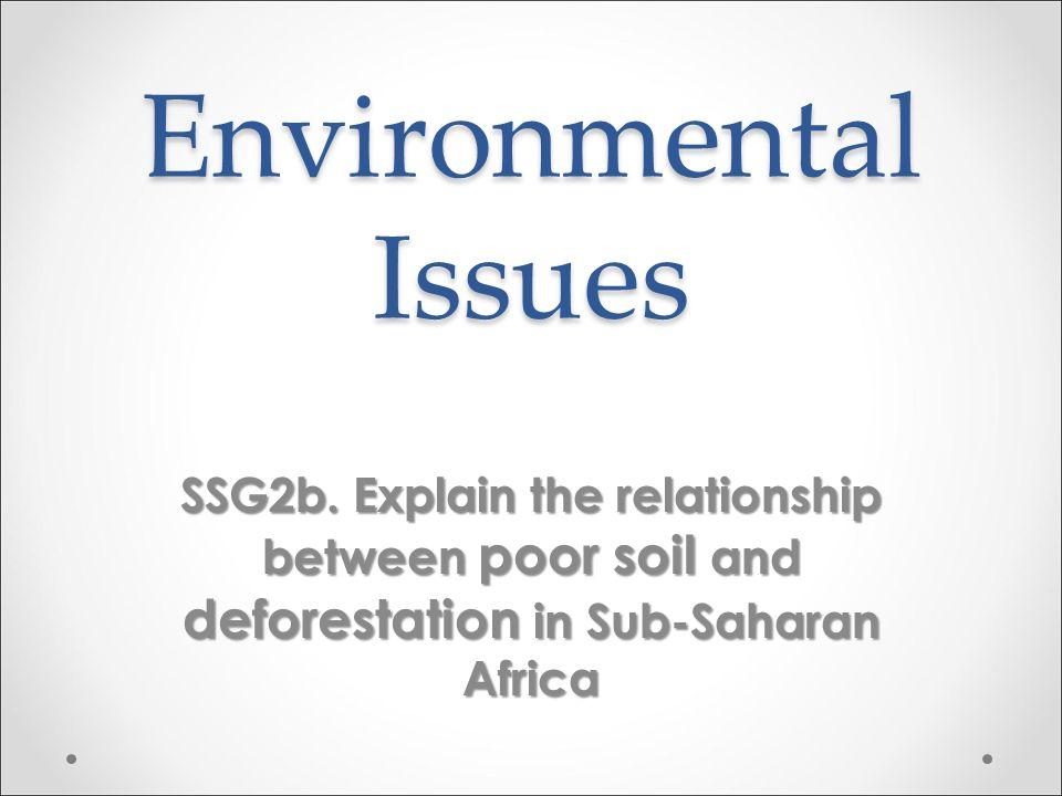 Environmental Issues SSG2b.