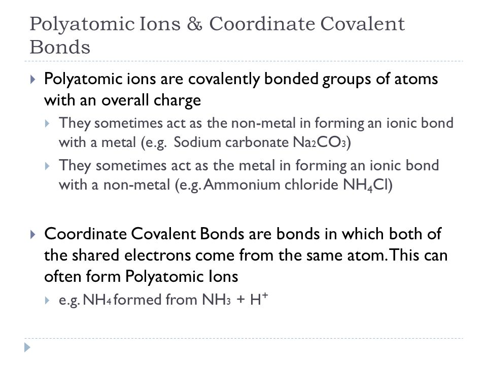 2.2 Molecular Compounds pp. 61 – 69. First Some Useful Vocabulary ...