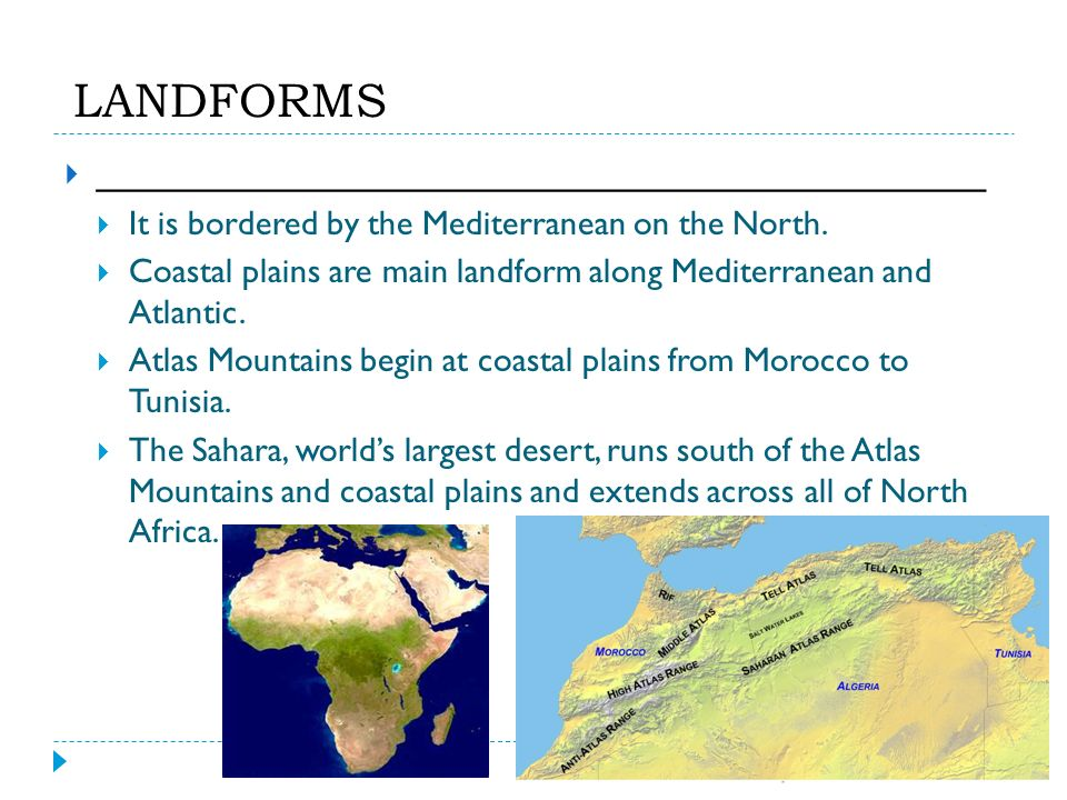 Chapter 21 north africa natural environments chapter 21 it is bordered by the mediterranean on the north sciox Gallery