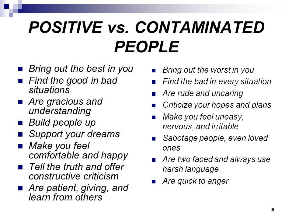 6 POSITIVE vs.