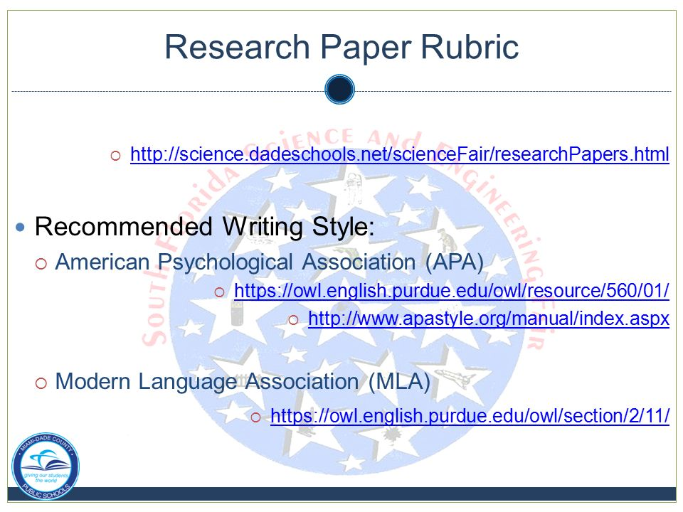 grading rubric for scientific research paper Grading rubric: science project research paper  name: date: 0 = no evidence 1 = some evidence 2 = clearly evident: have all important terms and concepts for this project been defined in the research paper 0 1 2 : does the research provide enough background to make a prediction of what will  research paper grading rubric author.