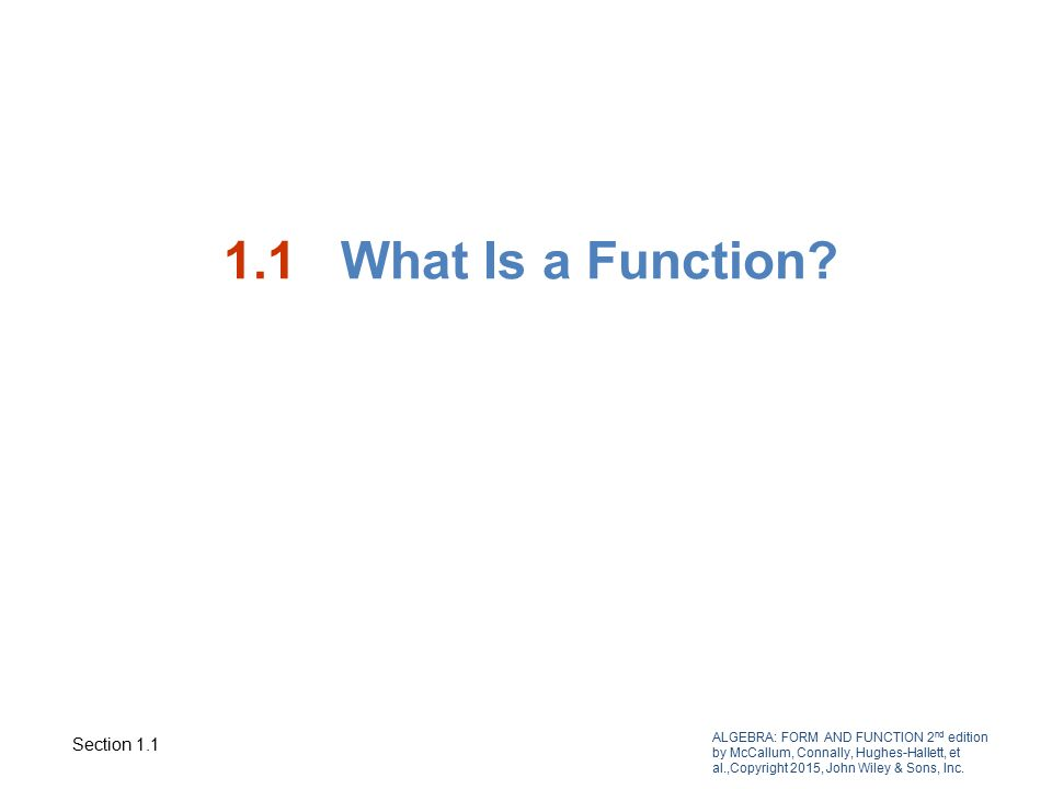 ALGEBRA: FORM AND FUNCTION 2 nd edition by McCallum, Connally ...