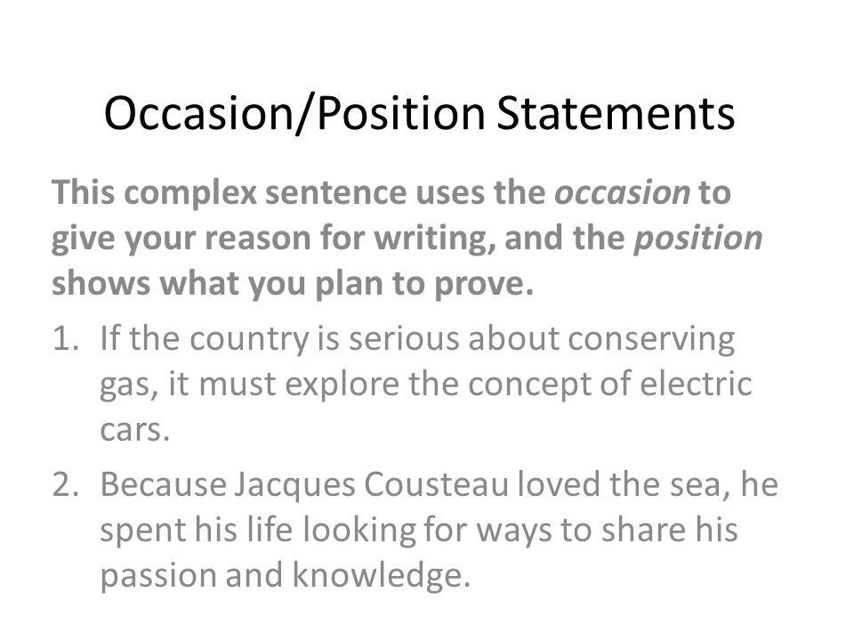 declarative thesis sentence