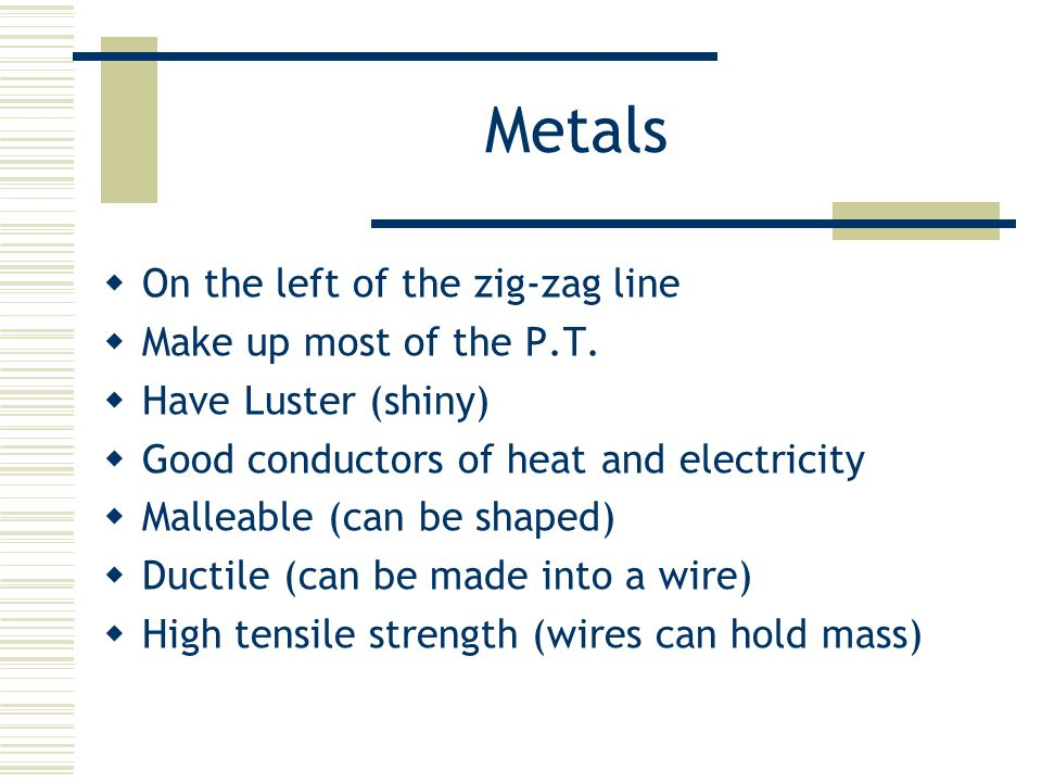 Lecture 4 the periodic table the periodic table organized by metals on the left of the zig zag line make up most of urtaz Image collections