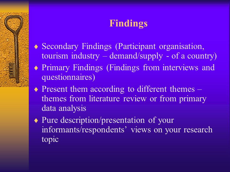 dissertation presentation of findings 47 chapter 4 analysis and presentation of data 41 introduction this chapter discusses the data analysis and findings from 107 questionnaires completed by.