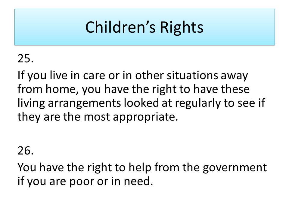 Children's Rights 25.