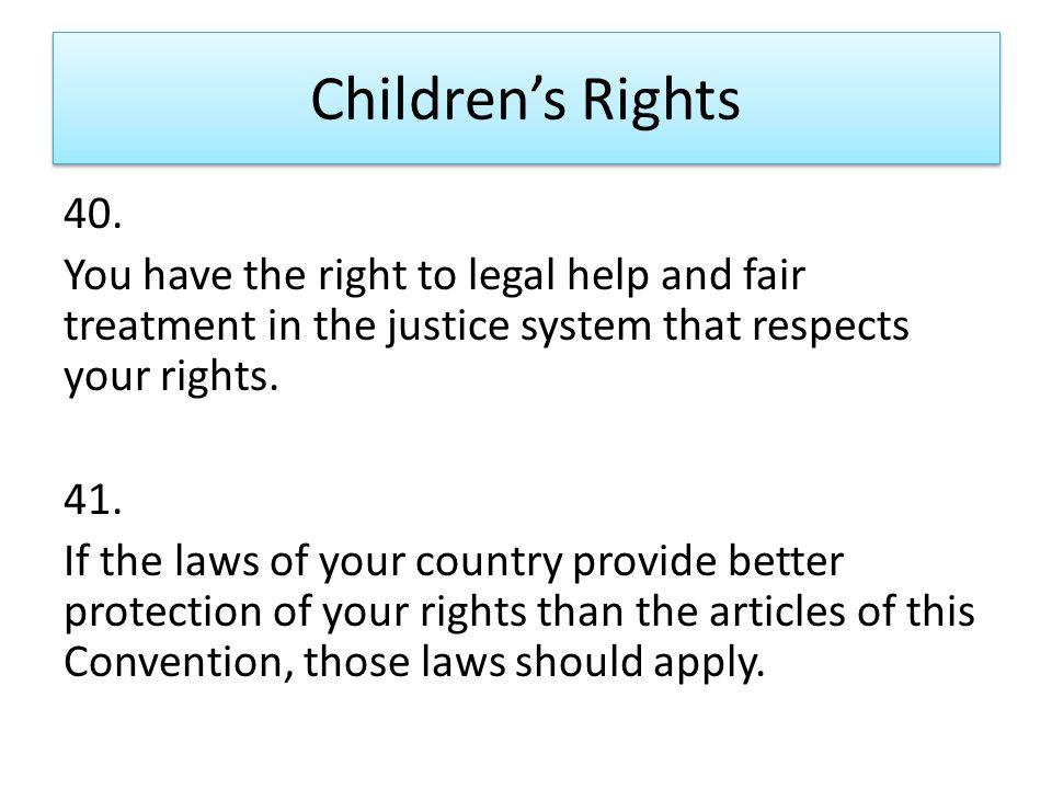 Children's Rights 40.