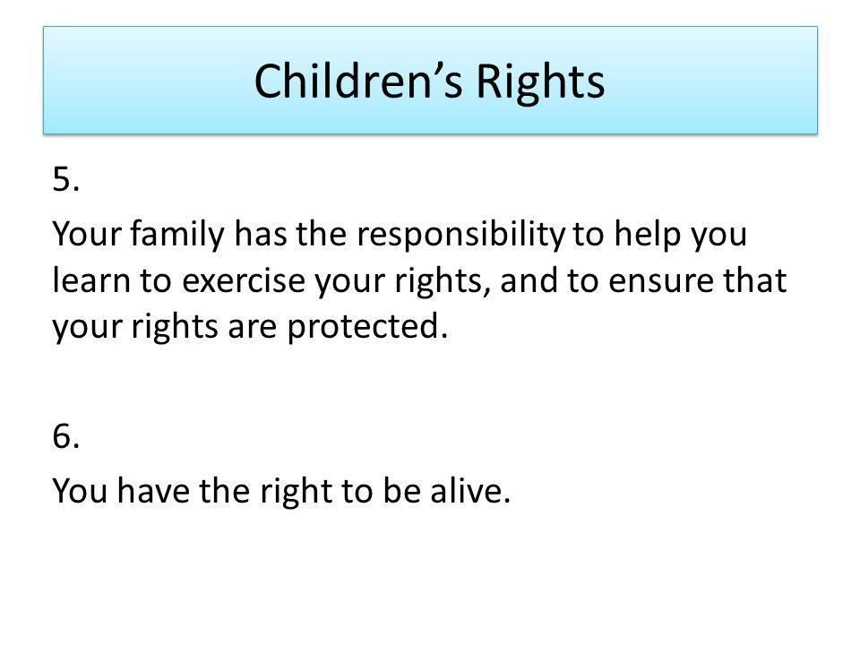 Children's Rights 5.
