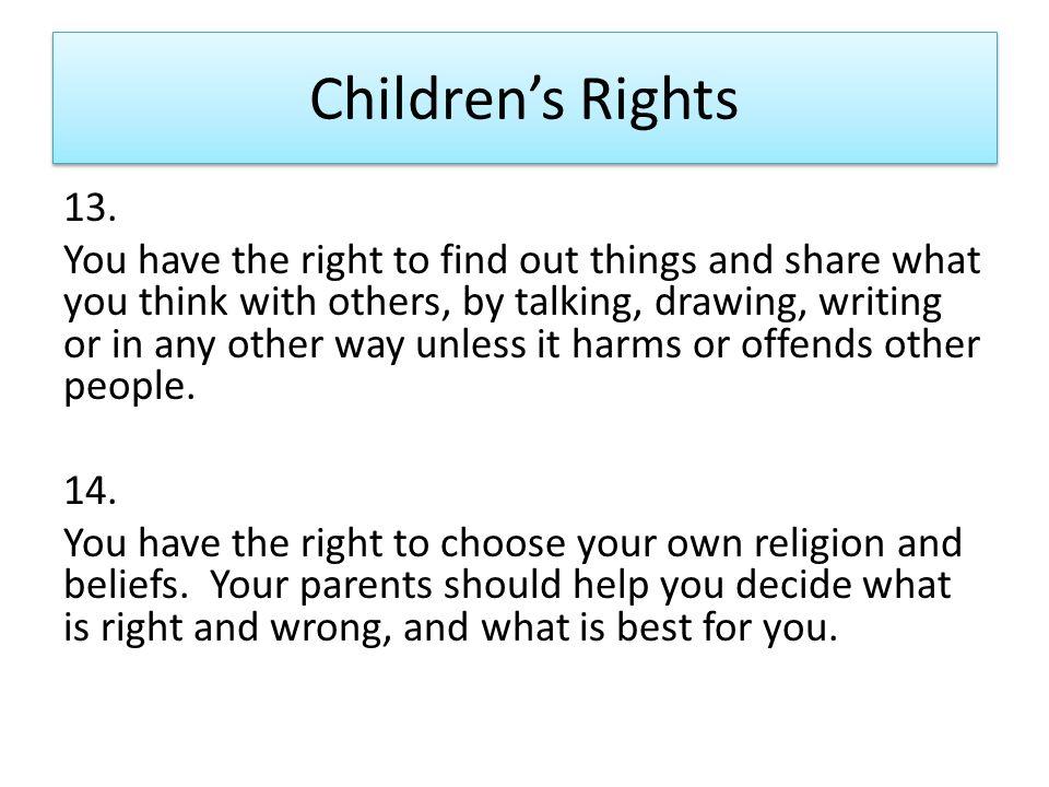 Children's Rights 13.