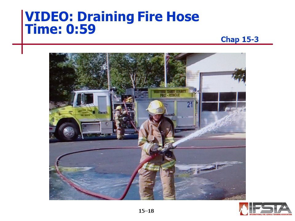 VIDEO: Draining Fire Hose Time: 0:59 Chap 15-3 15–18