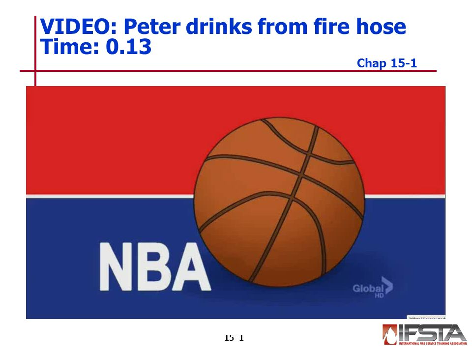 VIDEO: Peter drinks from fire hose Time: 0.13 Chap 15-1 15–1