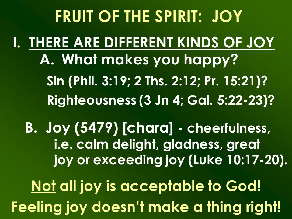 Different kinds of joy