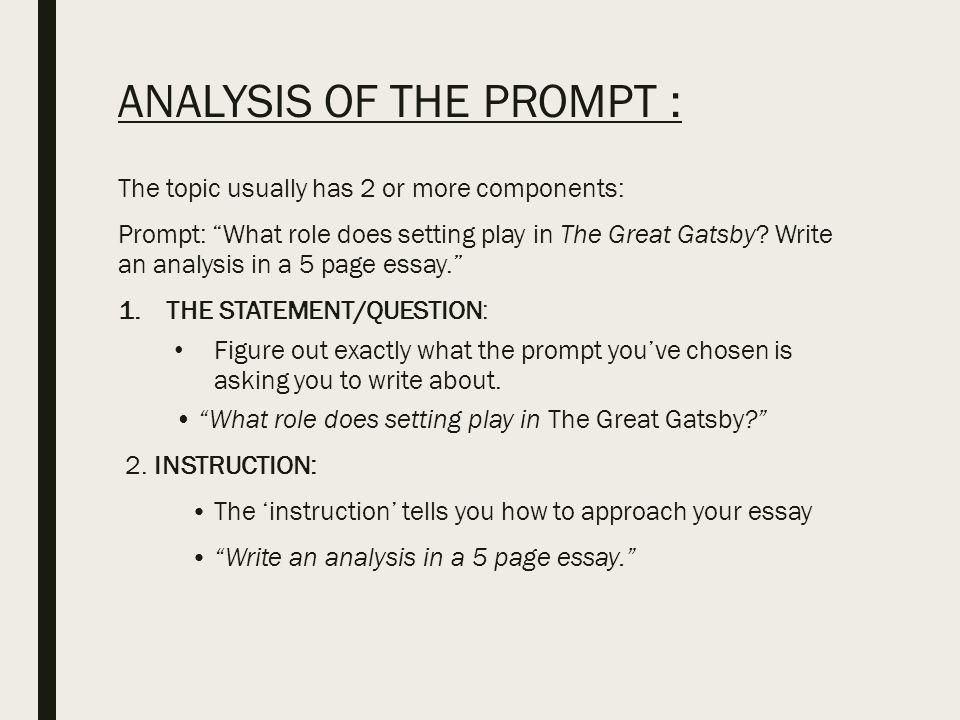 analytical essay gatsby great This essay great gatsby analysis is available for you on essays24com in the great gatsby many events happen between the beginning and end of the book these events not only change the way the reader looks at each character, but how each character acts in the novel.