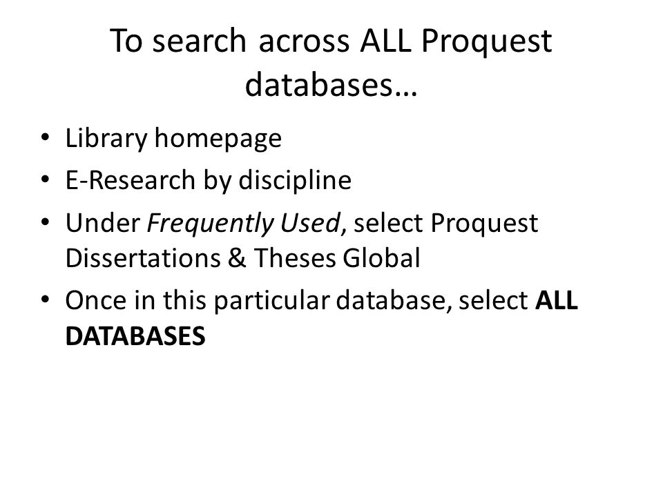 proquest theses online Online access to there citations and dissertations and theses global is provided in print, at nyu doctoral theses from proquest database, all dissertations theses global from international.