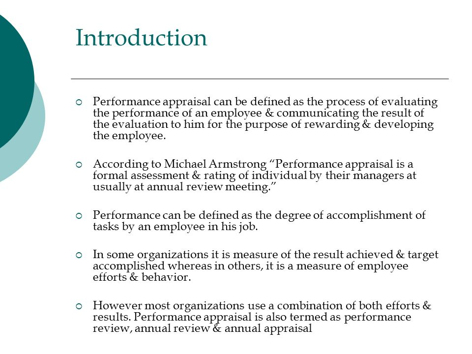 Impact Of Performance Appraisal System On Productivity Of