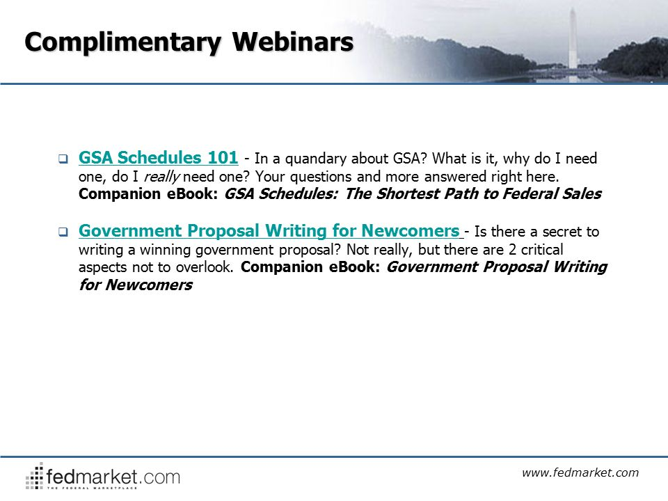 Complimentary Webinar Government Proposal Writing For Newcomers