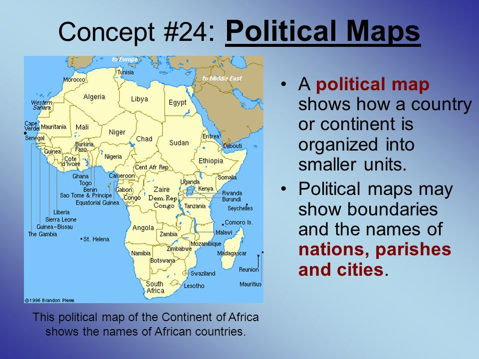 Gee 21 tutorial world geography concept 1 cardinal directions concept 24 political maps a political map shows how a country or continent is gumiabroncs Gallery
