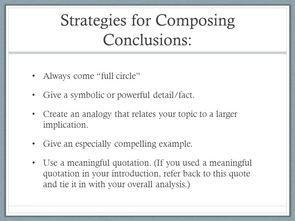 how to conclude an essay without saying in conclusion