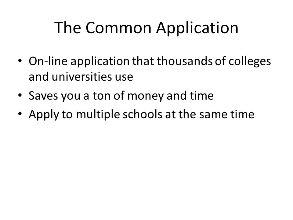Common Application and how to fill it?