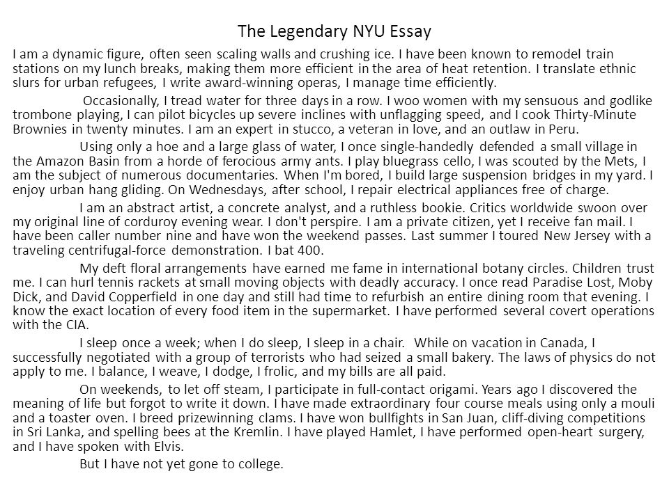 college essay 20 minute brownies One college asks applicants to handwrite their essays another asks for an essay that incorporates such disparate elements as albert einstein and a spork (a spoon-fork combination) still another.
