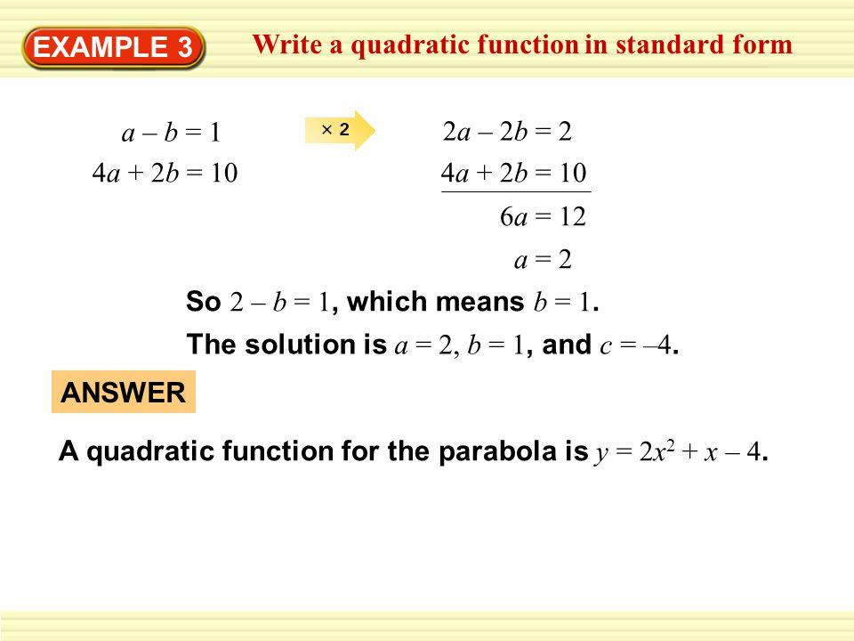 How To Write A Quadratic Function In Standard Form Dolapgnetband
