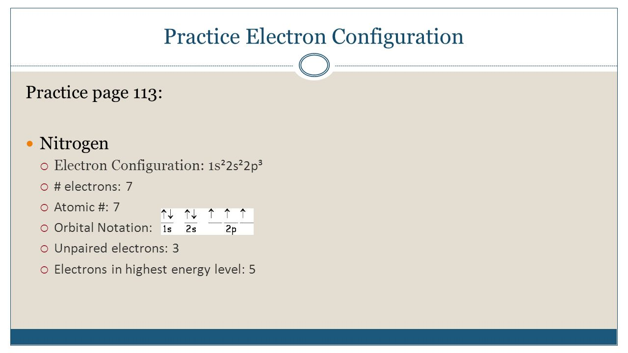 Electron configuration practice worksheet 2003 answer key