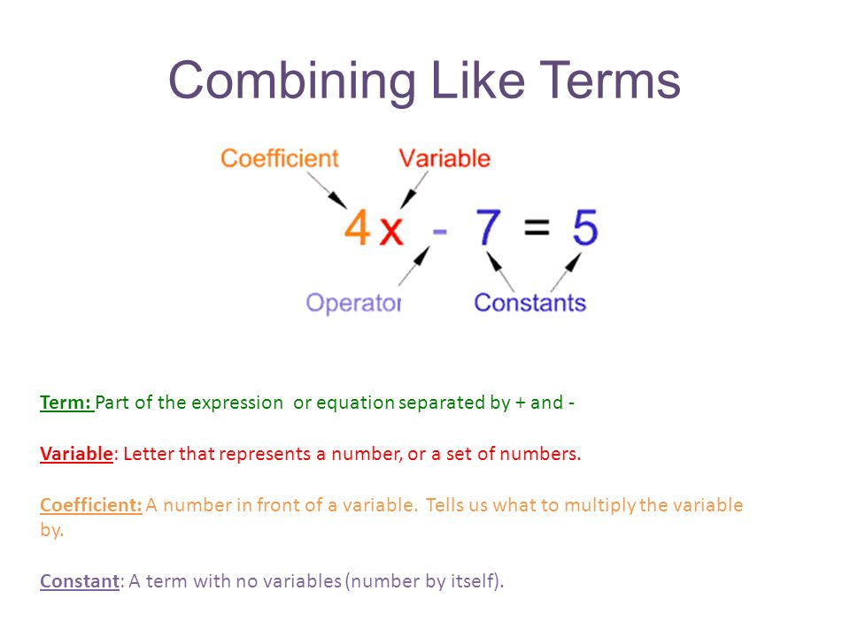 Difference Between Expression And Equation Tessshebaylo – Combining Like Terms Equations Worksheet