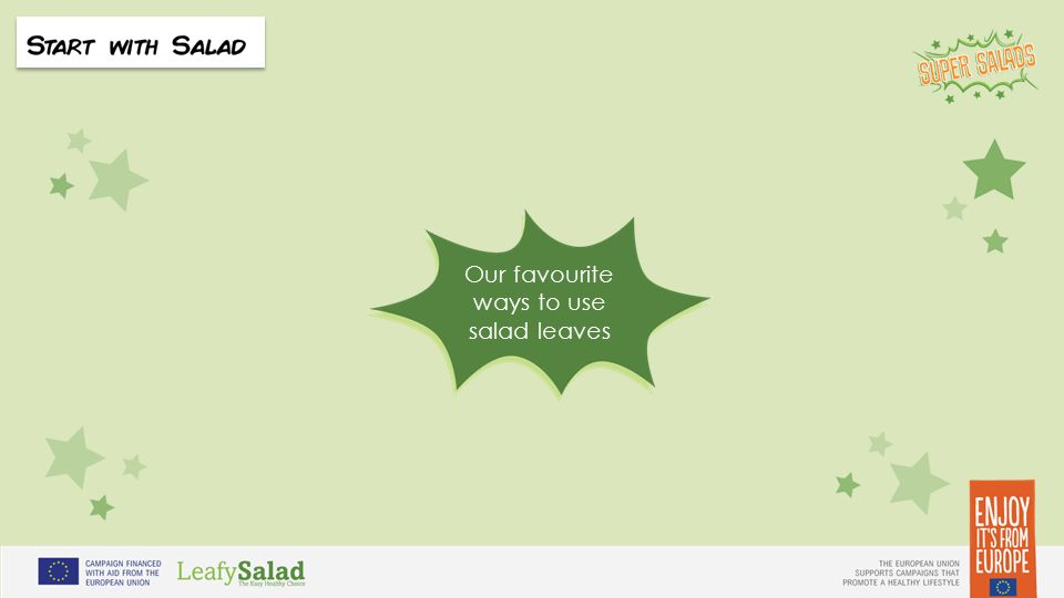 t t Our favourite ways to use salad leaves