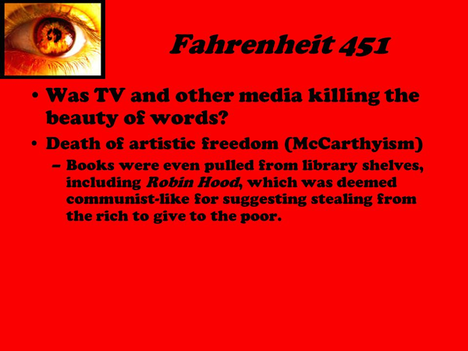 a literary analysis of the symbolism in fahrenheit 451 A summary of themes in ray bradbury's fahrenheit 451 learn exactly what happened in this chapter, scene, or section of fahrenheit 451 and what it means perfect for acing essays, tests, and quizzes, as well as for writing lesson plans.