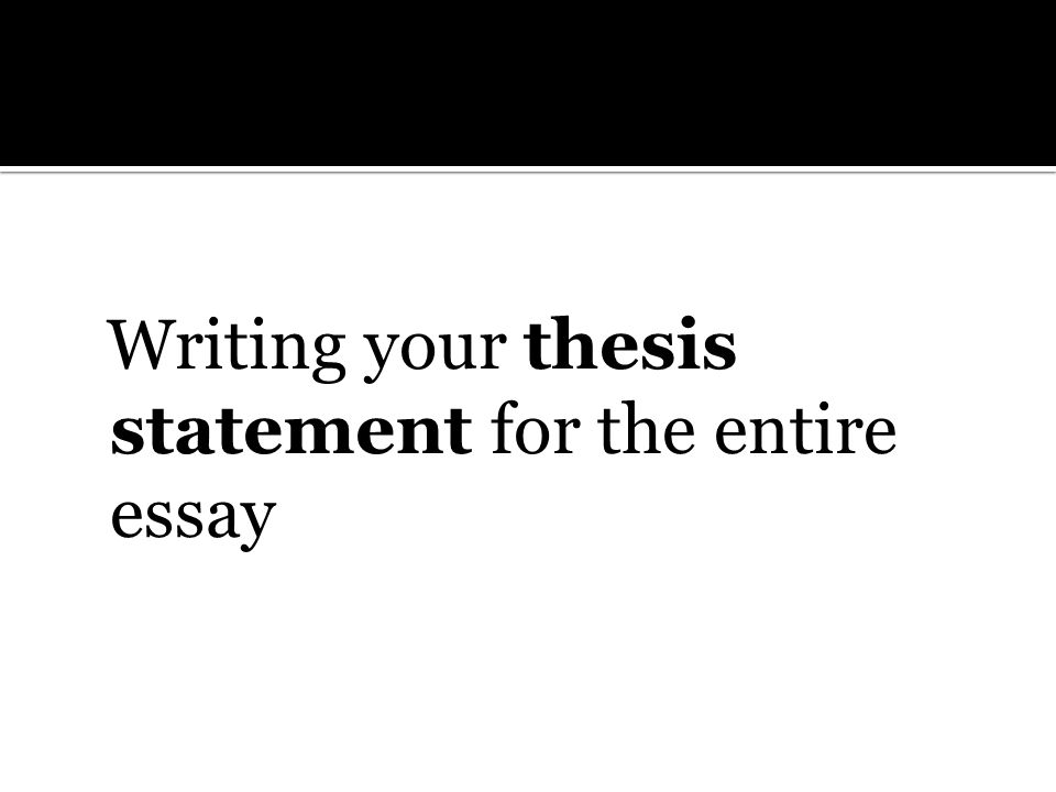 rhetorical analysis a critical ear the following  5 writing your thesis statement for the entire essay
