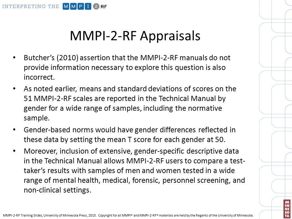 mmpi ii report