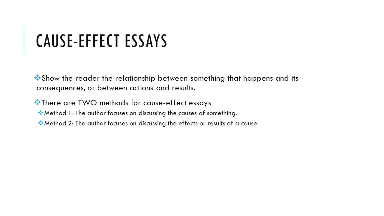 cause or effect essays unit warm up exercise from now on we cause effect essays 61558 show the reader the relationship between something that happens and its