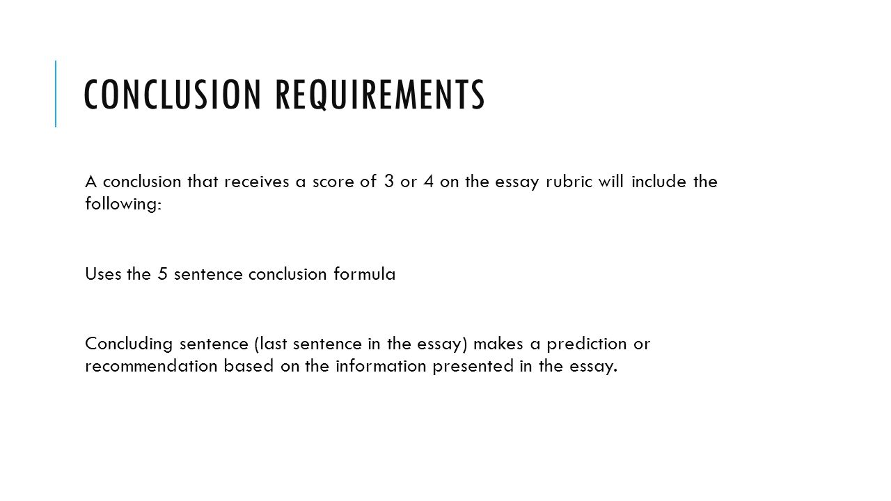 essay conclusion sentence How to write a conclusion in a conclusion paragraph, you summarize what you've written about leave your readers with something to think about suggest that they learn more with a sentence like.