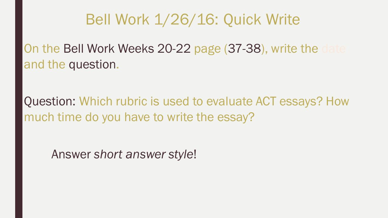 activities bell work bell work quick write activity 4 on