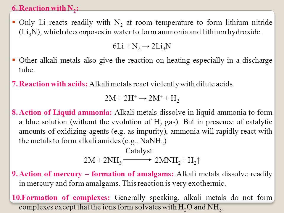 Alkali Metals.  Alkali metals refer to six elements belonging to ...