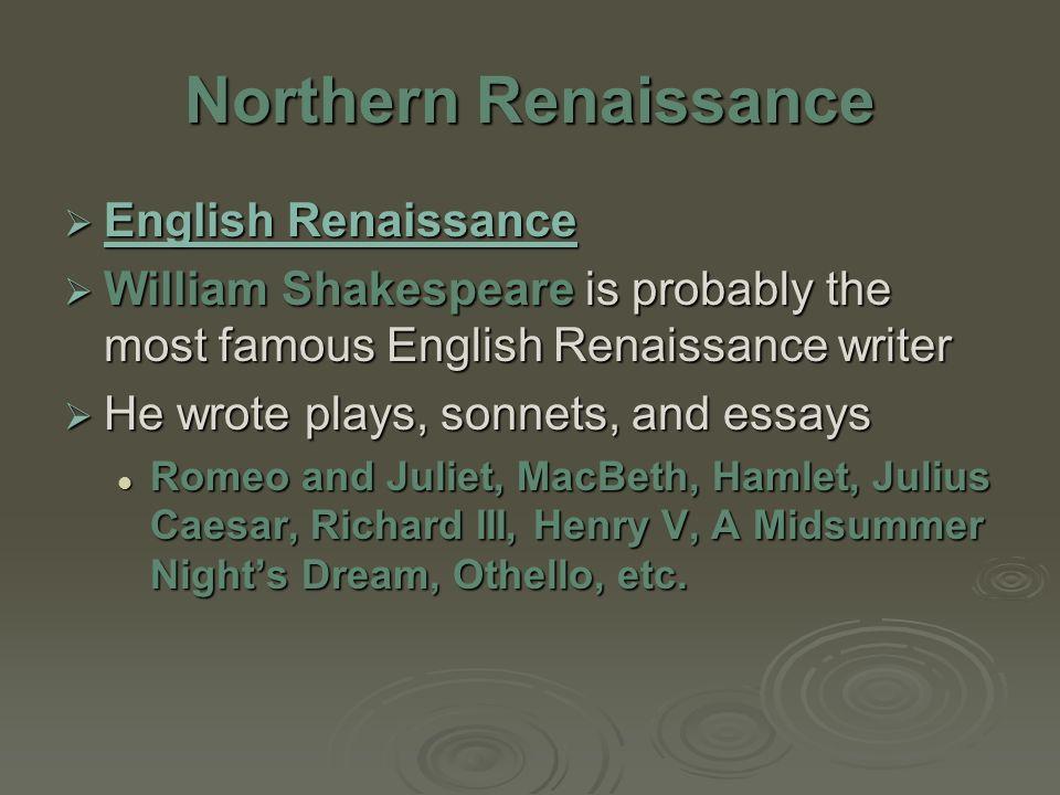 renaissance in england essay