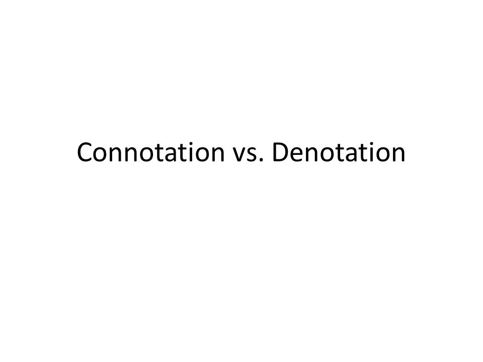 Connotation denotation lesson high school