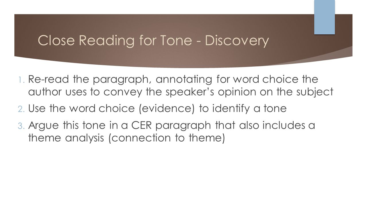 Close Reading For Tone Discovery 1