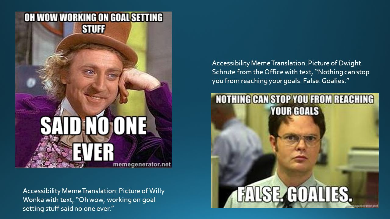 slide_2 accessibility meme translation picture of dwight schrute from the