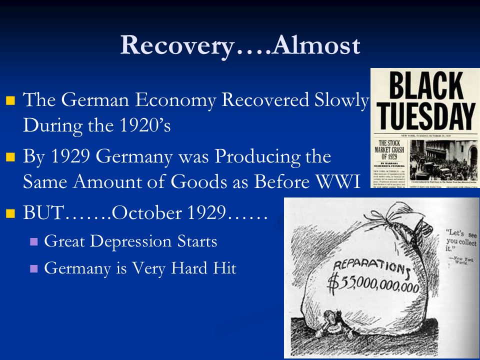 weimar stability by 1929 The weimar republic under stresemann 1924-1929 achievements chancellor for only a few months leading member of every government from 1923-1929.