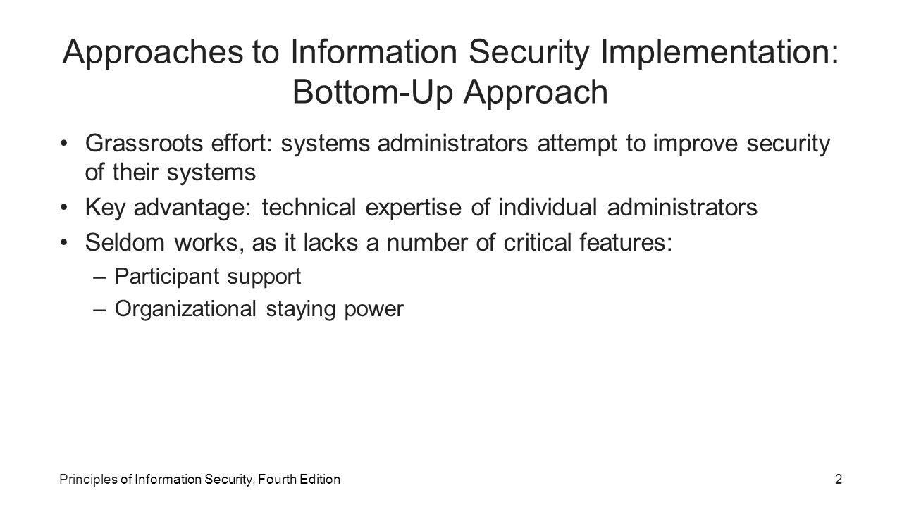 an approach to information security management